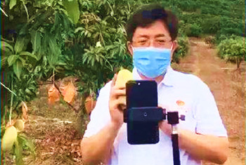 阿东在淘宝直播平台推荐万博官网手机版网页版登录农产品