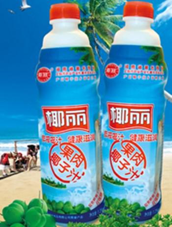 椰丽鲜榨果肉椰子汁:新鲜椰肉榨汁,原汁原味,味感醇和